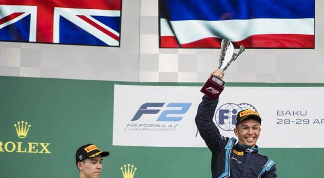 Александер Элбон выиграл первую гонку «Формулы-2» в Баку. Маркелов сошел