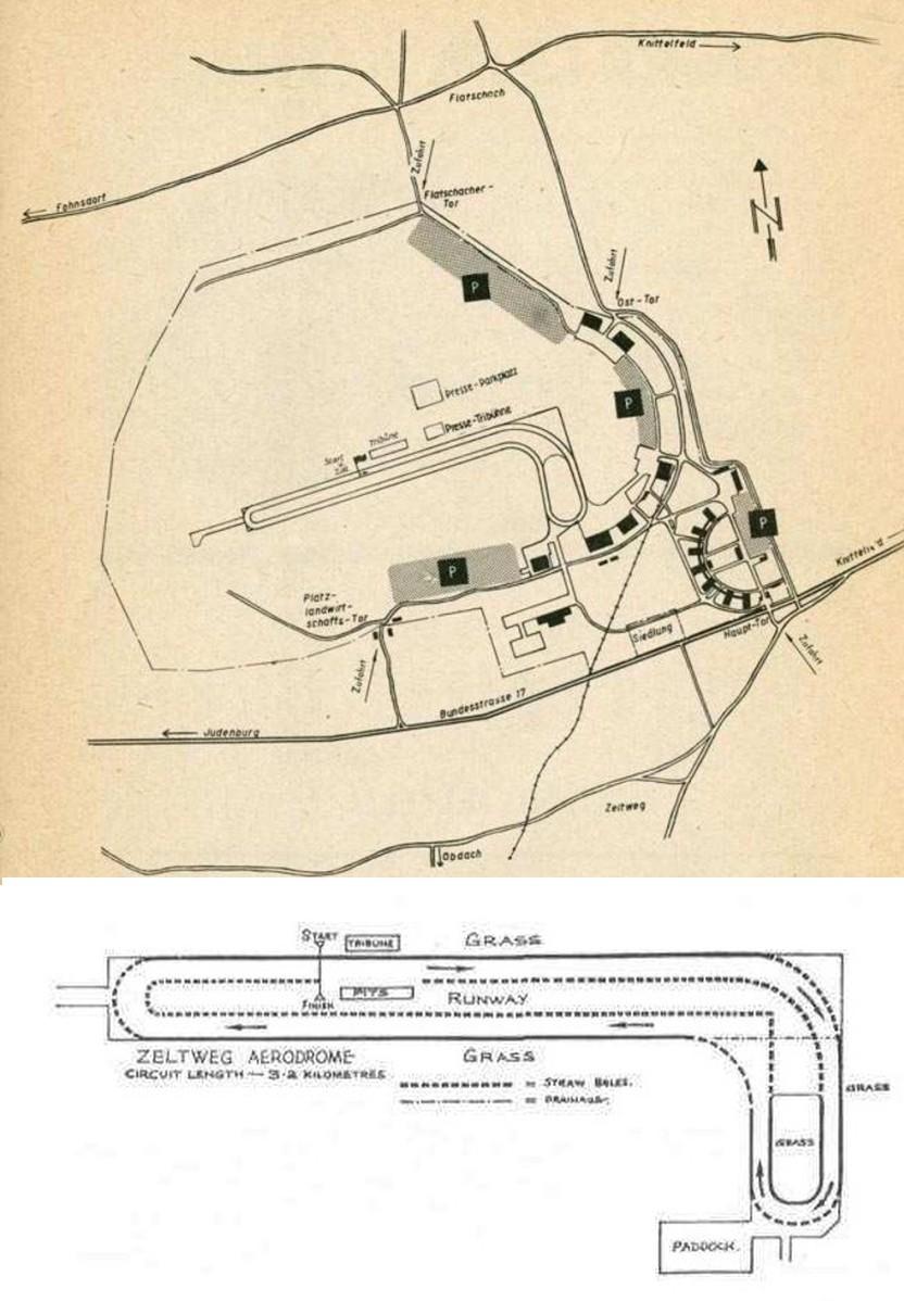 Схема трассы на аэродроме Цельтвега