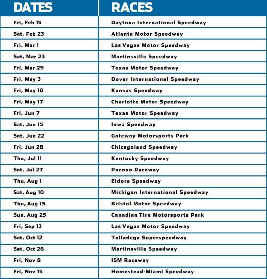 Расписание сезона дивизиона пикапов