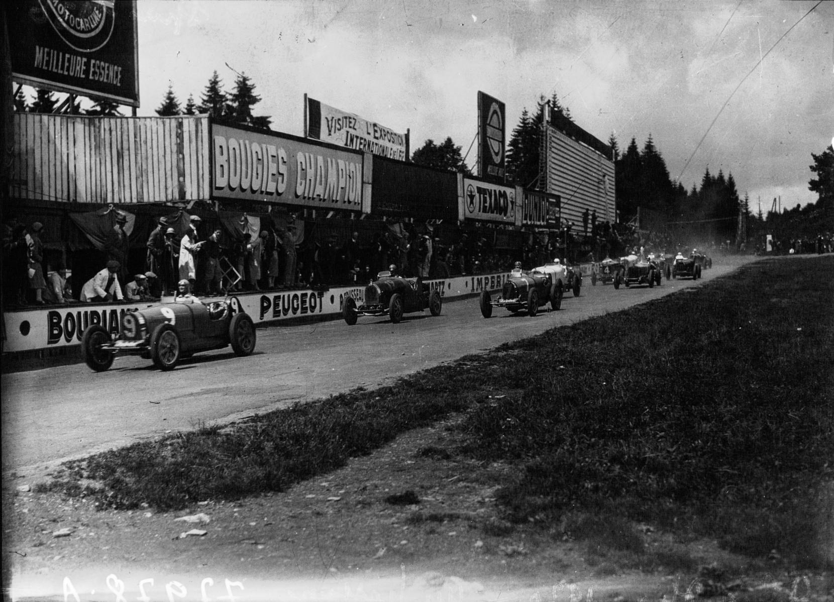 Старт Большого приза Бельгии 1930 года