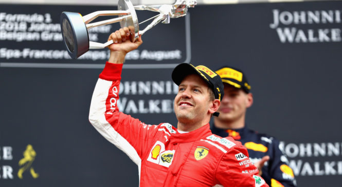 Зебастиан Феттель выиграл Гран-при Бельгии, Сироткин — 12-й