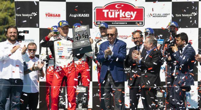 Отт Тянак побеждает в Ралли Турции, Ожье 10-й