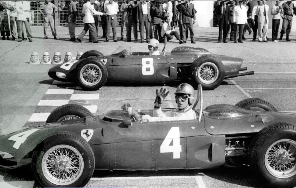 Вольфганг фон Трипс на старте Гран-при Италии 1961 года