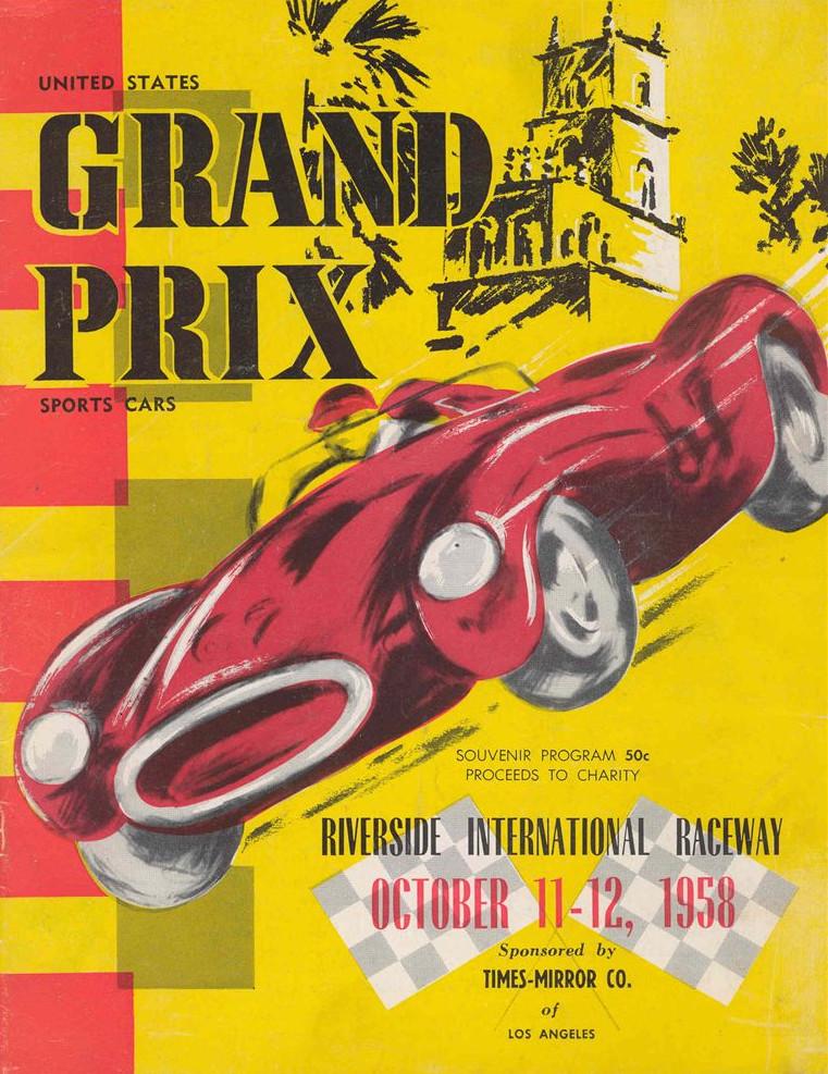 Обложка программки Гран-при США 1958 года