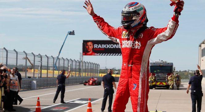 Ряйккёнен выиграл первую гонку за пять лет, борьба за титул продолжается!