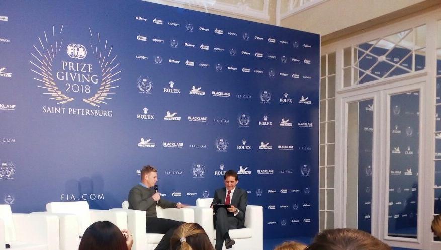 Йохан Кристофферссон на пресс-конференции ФИА в Санкт-Петербурге