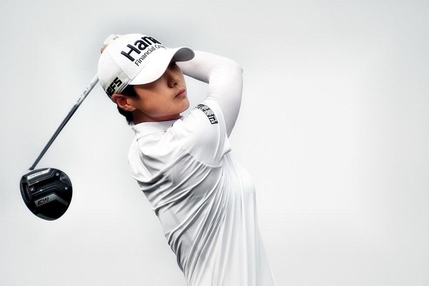 """Сунь Хьюн Парк во время одного из женских турниров по гольфу на """"Индианаполис Мотор Спидвей"""""""