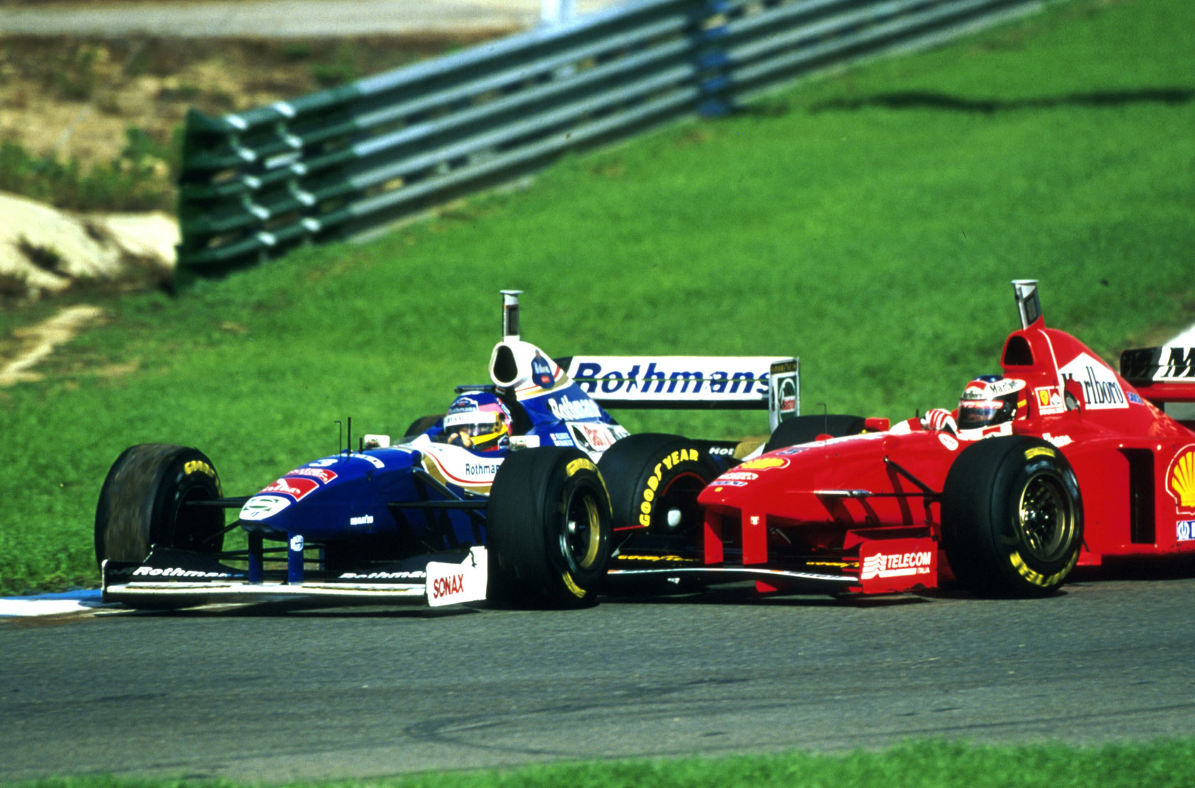 Жак Вильнёв и Михаэль Шумахер в Хересе в 1997-м