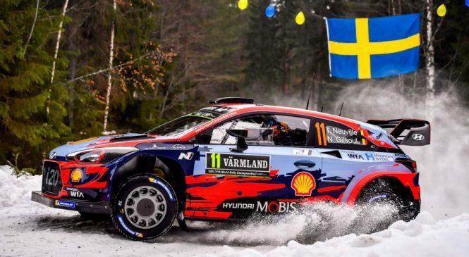 Ралли Швеции: Тьерри Нёвилль быстрейший на Шейкдауне, Ожье 3-й
