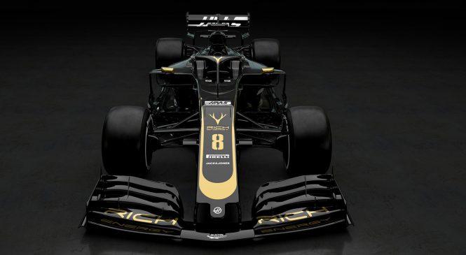 «Хаас» представил черно-золотой окрас машины