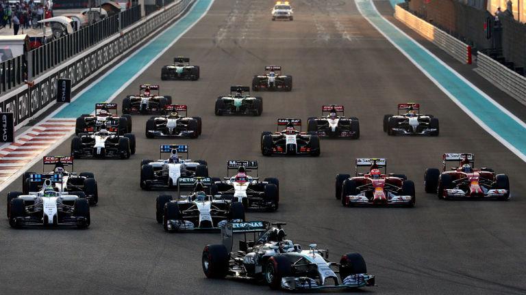 Старт Гран-при Абу-Даби 2014 года