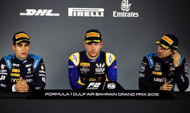 Лука Гьотто: Я рад, что стратегия сработала. Пресс-конференция по итогам второй гонки «Формулы-2» в Бахрейне