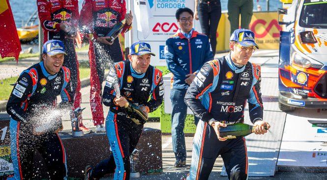 «Хёндэ» оформили дубль в Ралли Аргентины, Тянак финишировал 8-м. Итоги пятого этапа чемпионата мира по ралли