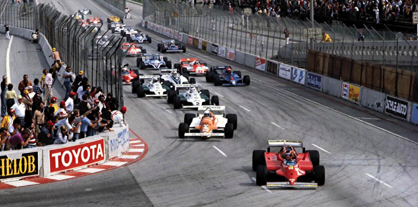 Старт Гран-при Лонг-Бич'81, самой первой гонки Чемпионата мира Ф1