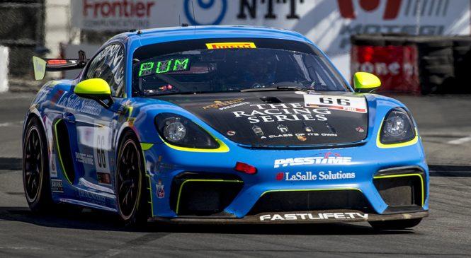 Пампелли победил, Андретти в очках. Итоги этапа американского серии ГТ4 в Лонг-Бич
