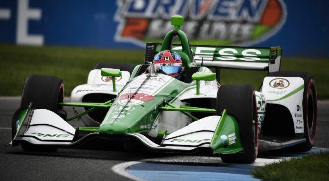 Херта стал быстрейшим на разминке перед Гран-при Индианаполиса