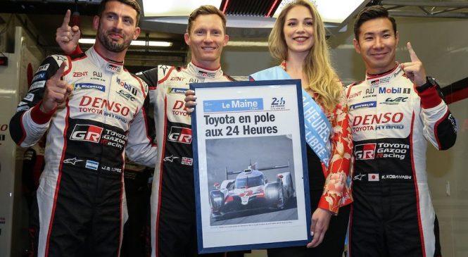 Кобаяси принес «Тойоте» третий поул в Ле-Мане, экипаж Алонсо стартует вторым