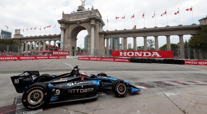 Розенквист быстрейший на разминке перед гонкой «Индикара» в Торонто