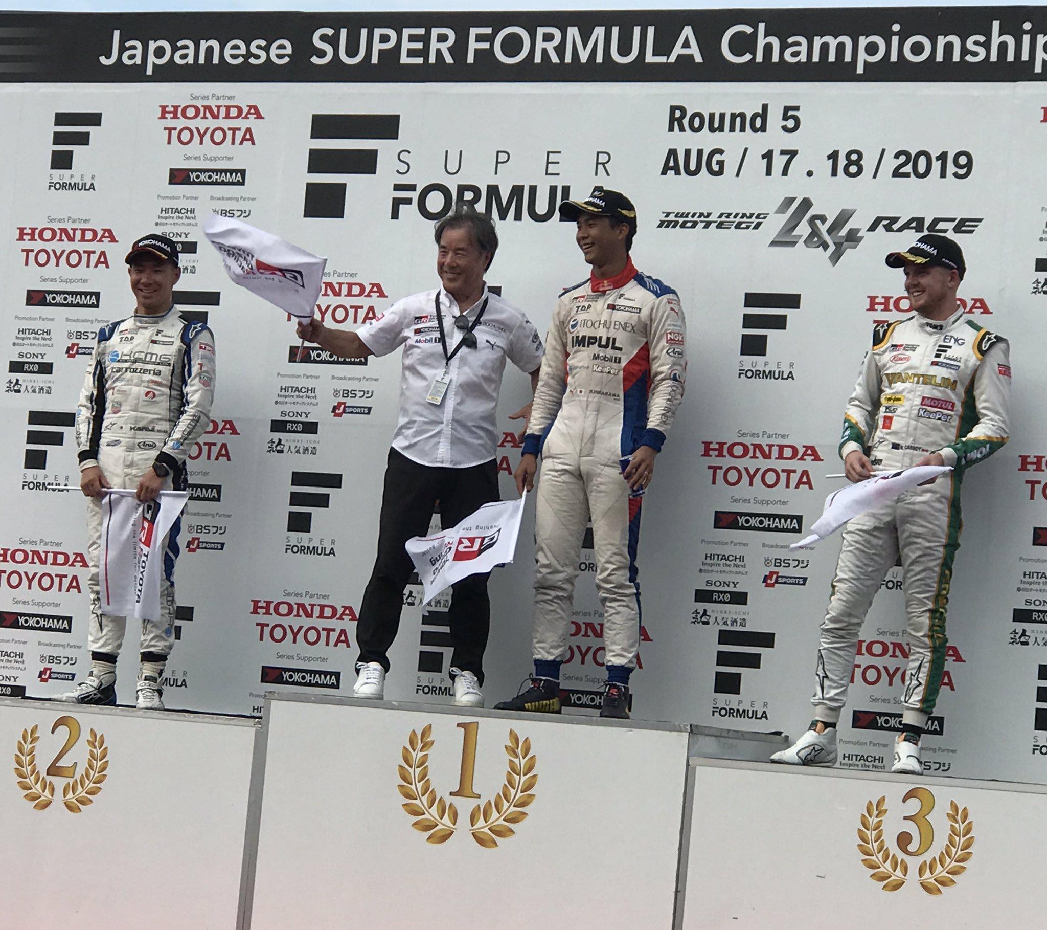 """Подиум гонки """"Супер Формулы"""" в Мотеги"""