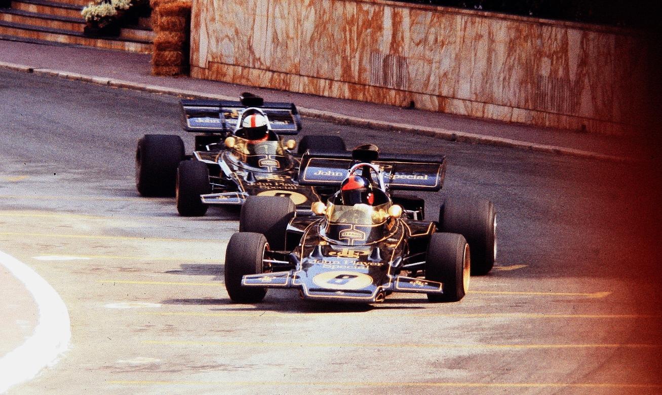 Эмерсон Фиттипальди и Дэйв Уокер в Монако в 1972-м