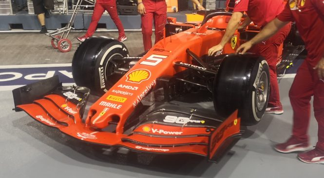В «Феррари» к Гран-при Сингапура приготовили обновления аэродинамики