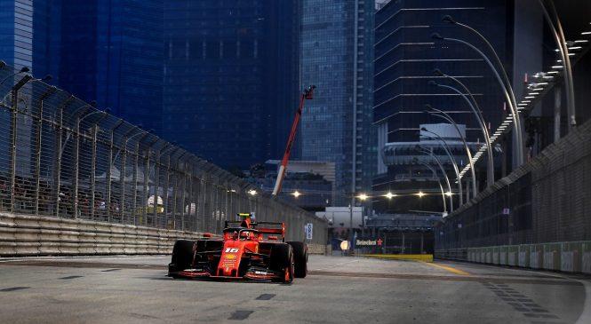 Шарль Леклер выиграл квалификацию перед Гран-при Сингапура 2019 года, Квят — 16-й