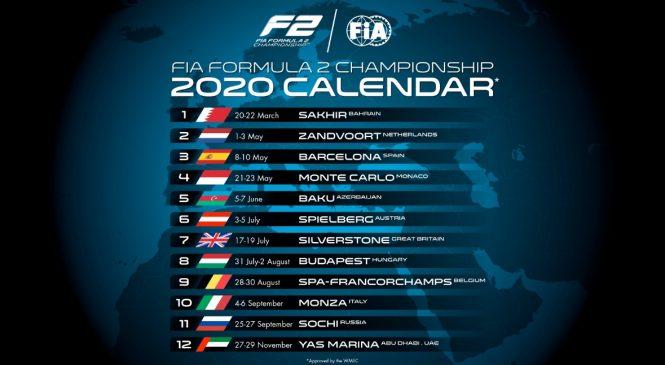 Зандворт сменил «Поль Рикар» в календаре «Формулы-2» на 2020 год