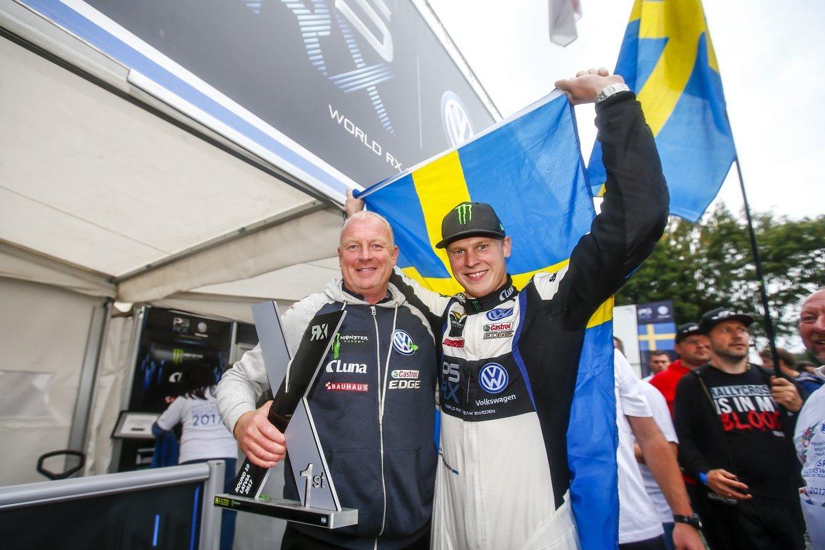 Кристофферсон досрочно стал чемпионом мирового ралли-кросса, а Маркланд одержал победу в европейском первенстве