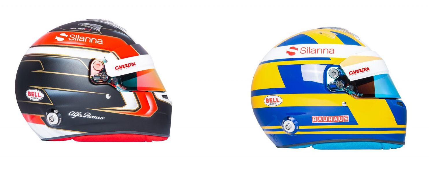 Леклерк и Эрикссон определились с дизайнами шлемов на новый сезон