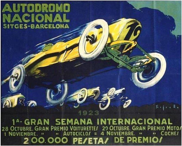 Постер испанского гран-при 1923 года