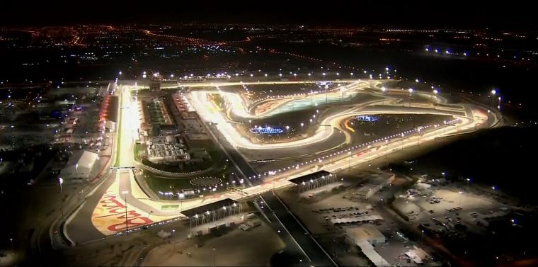 Ночная гонка Ф1 на трассе Сахир