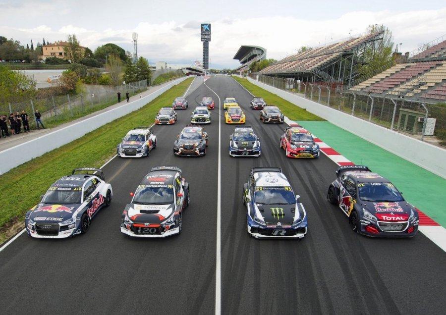 Автомобили мирового ралли-кросса в Барселоне