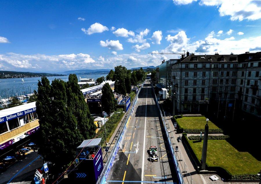 Вид на трассу в Цюрихе