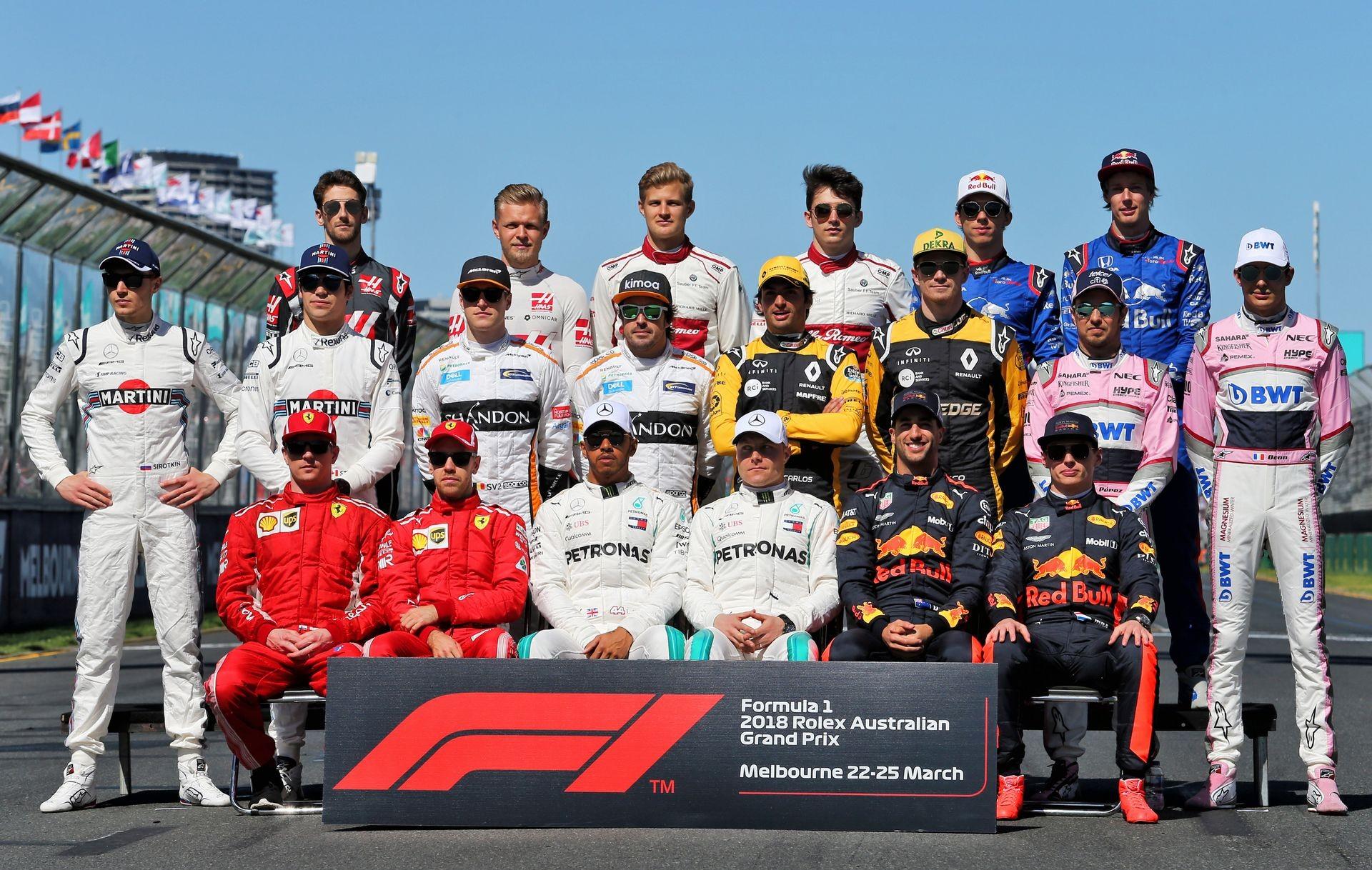 Гонщики Ф1 2018 года