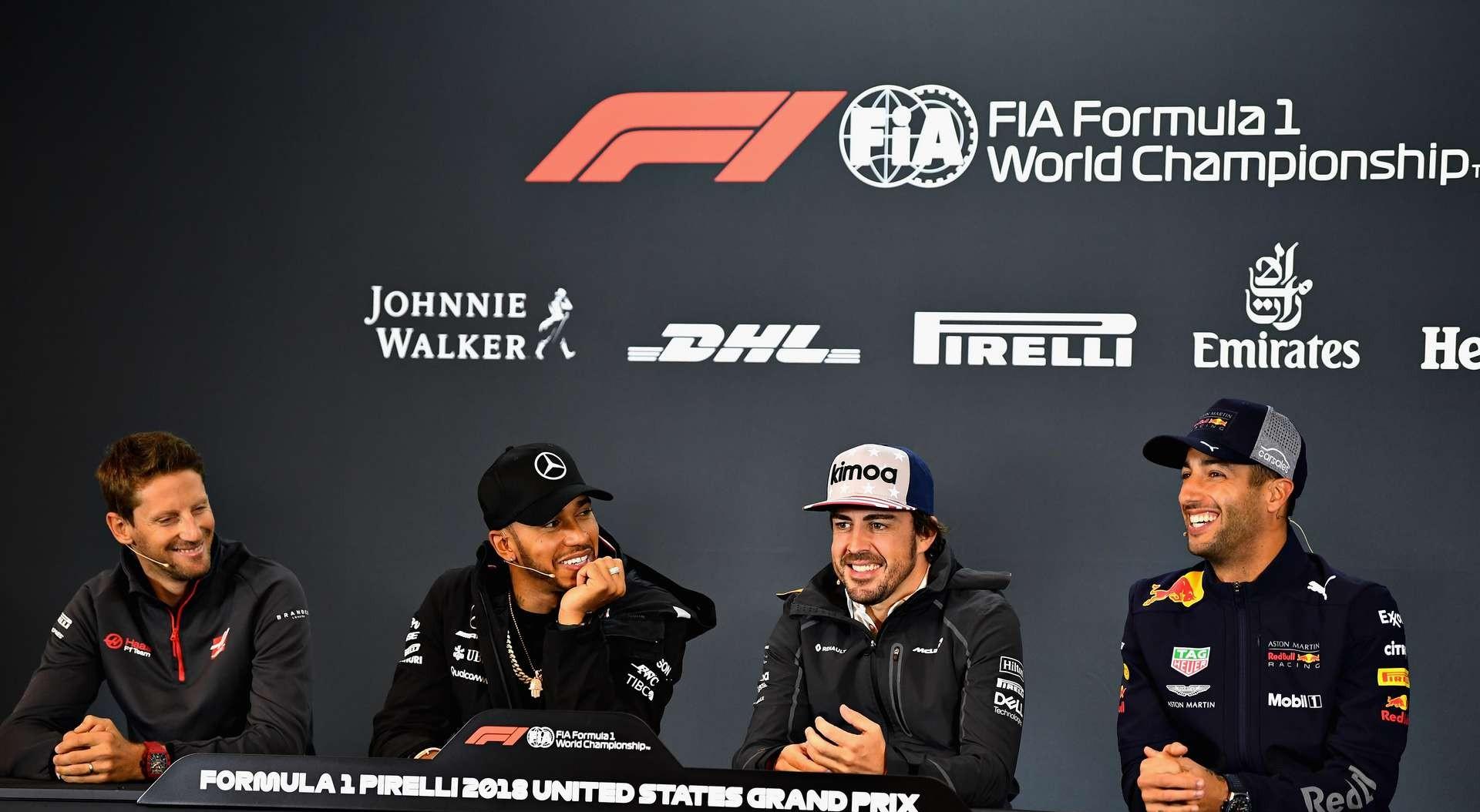 Гонщики в Ф1 в Остине