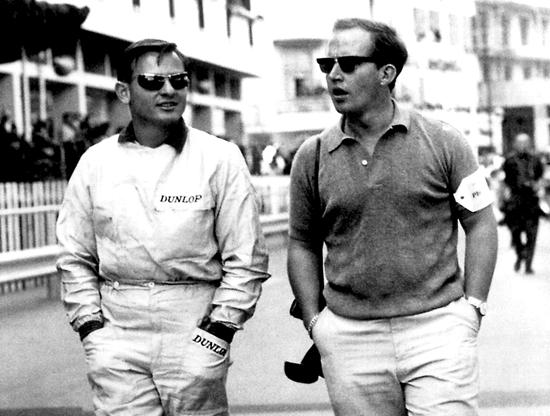 Брюс Макларен и Оуэн Янг в Монако в 1962 году