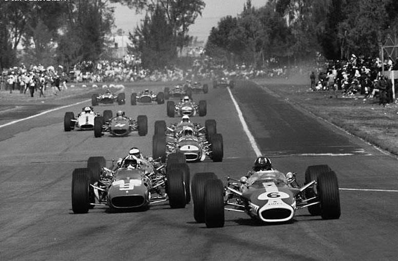 Первый круг БП Мексики'67. Брэбем (№1) - на четвёртом месте