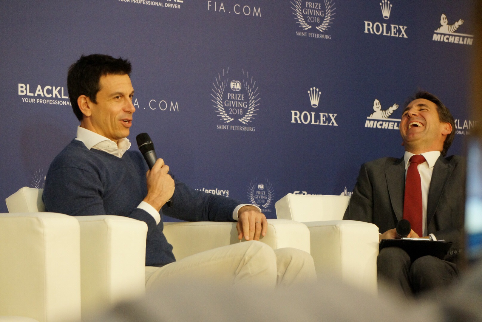 Тото Вольфф во время пресс-конференции ФИА в Санткт-Петербурге