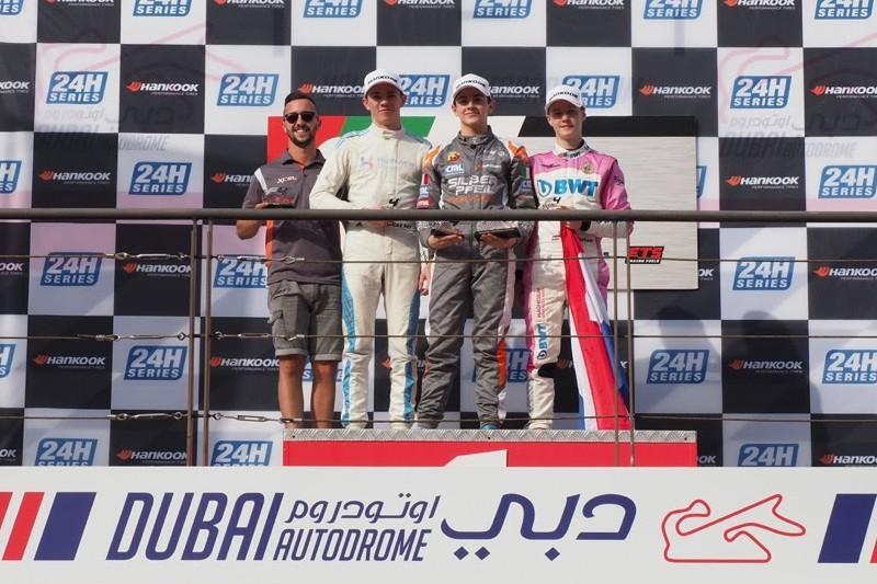 Подиум первой гонки сезона арабской Ф4