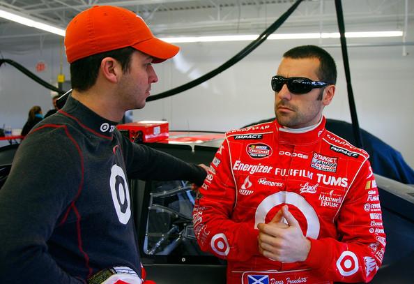 Рид Соренсон делится опытом с Дарио Франкитти на тестах в Лас-Вегасе