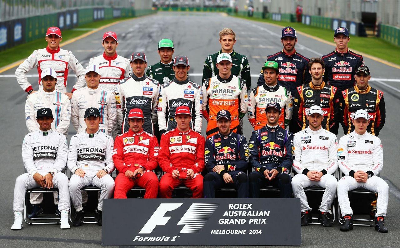 Гонщики Ф1 2014 года