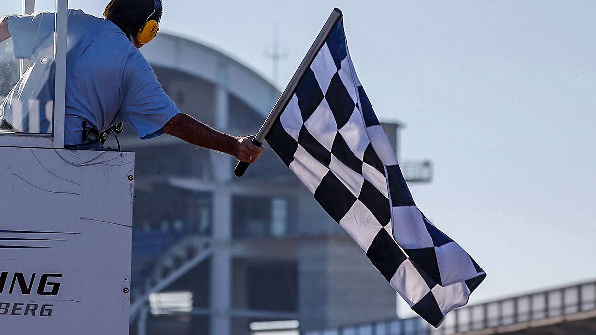 Финиш гонки европейской Ф3