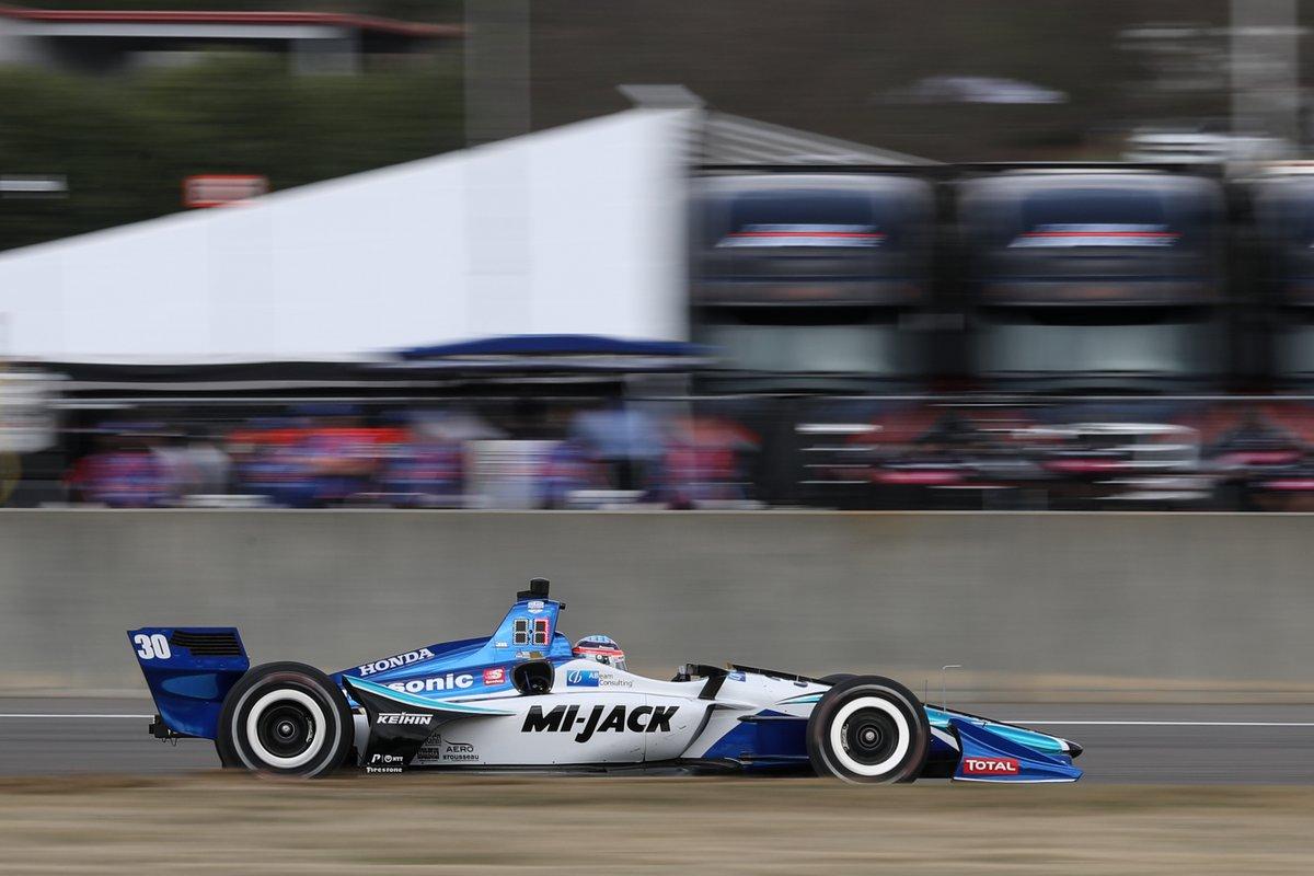 Такума Сато во время Гран-при Алабамы