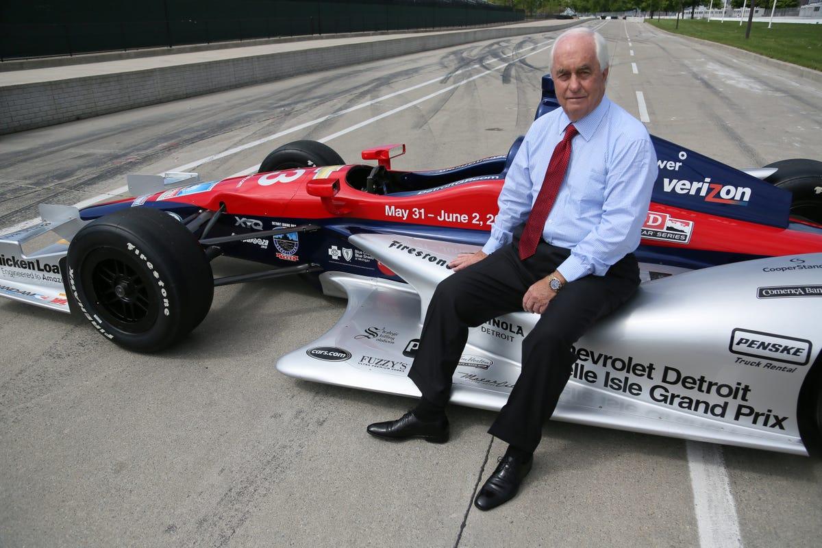 Роджер Пенске на трассе Гран-при Детройта