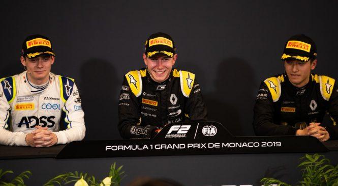"""Юбер: Мое сердце до сих бьется невероятно сильно! Пресс-конференция первой тройки по итогам второй гонки """"Формулы-2"""" в Монако"""