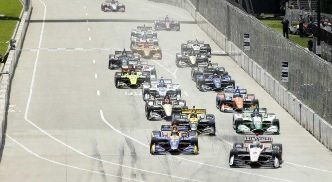 Действо первого круга Гран-при Детройта