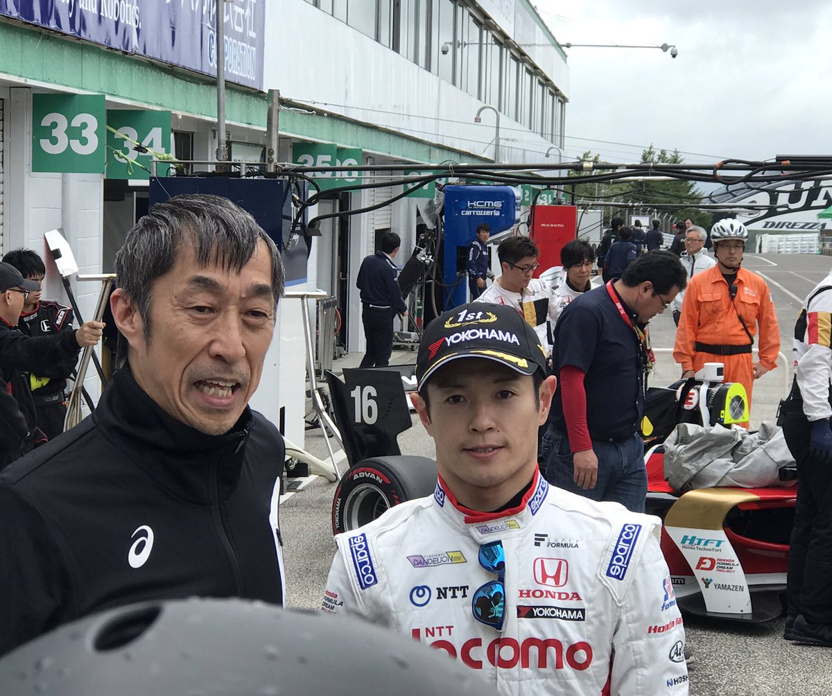Наоки Ямамото после квалификации в Суго