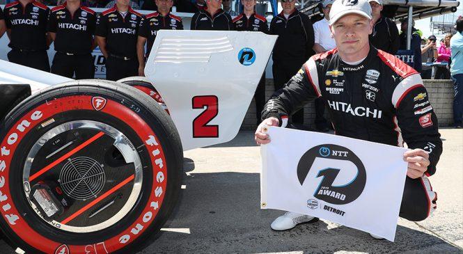 Ньюгарден будет стартовать с поула воскресной гонки Гран-при Детройта
