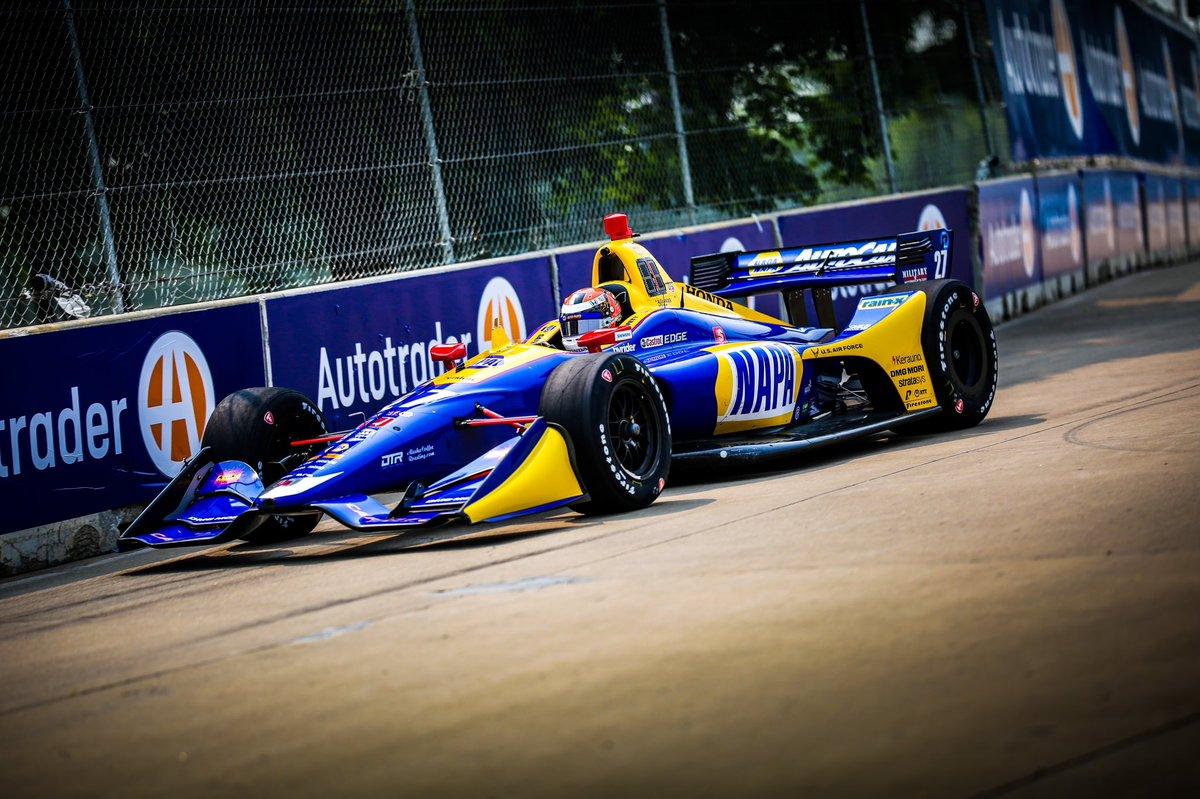 Александер Росси в тренировках Гран-при Детройта