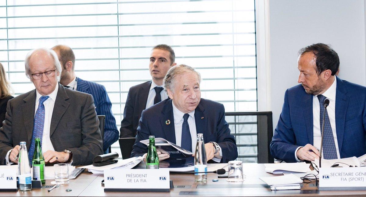 Жан Тодт на заседании Всемирного совета ФИА по автоспорту в марте этого года